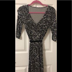 Leopard V neck Dress